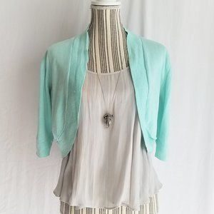 Mint Green Cropped Cardigan / Shrug / Bolero